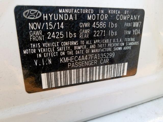 2015 Hyundai  | Vin: KMHEC4A47FA******