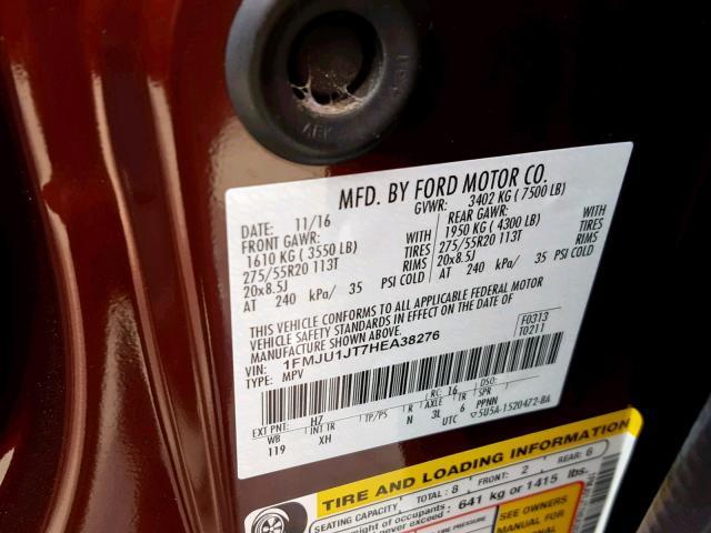 2017 Ford  | Vin: 1FMJU1JT7HEA38276