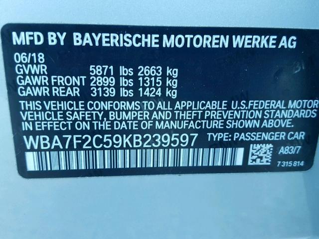 2019 BMW ALPINA B7 | Vin: WBA7F2C59KB******