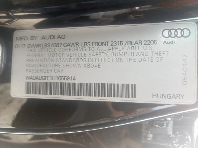 2017 Audi A3 PREMIUM | Vin: WAUAUGFF1H1******